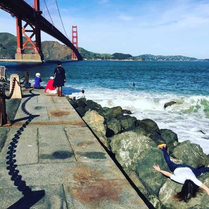 Возле моста Золотые Ворота в Сан Франциско.  Instagram stefdies.