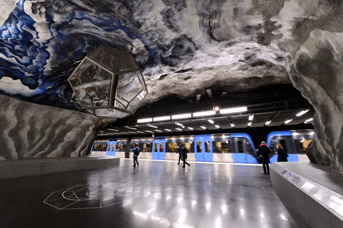 Станция T-centralen. Метро Стокгольма.
