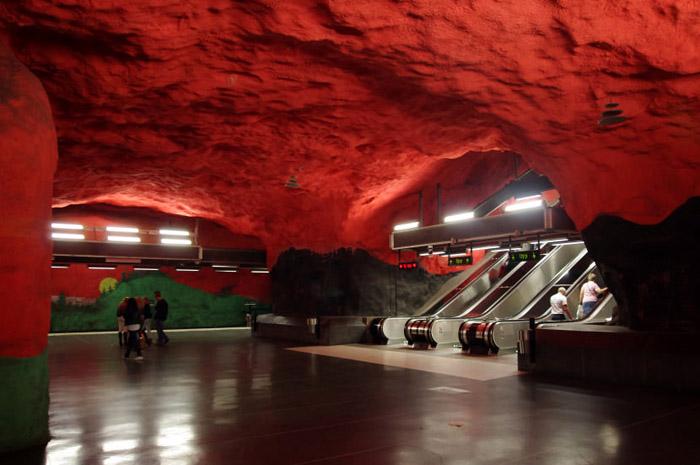 Станция Solna centrum. Метро Стокгольма.
