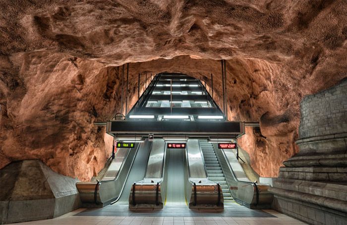 Станция Radhuset. Метро Стокгольма.
