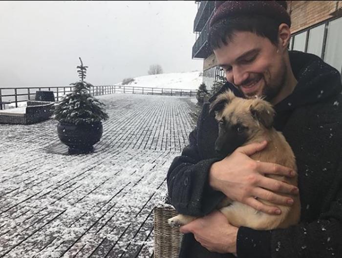 Данила Козловский взял домой себе бродячую собаку. #stop_bloodyfifa2018.