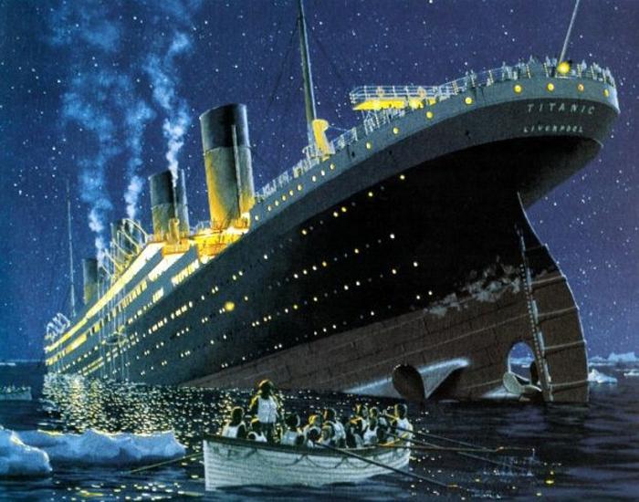 Сначала с тонущего корабля отправляли детей и женщин первого класса.