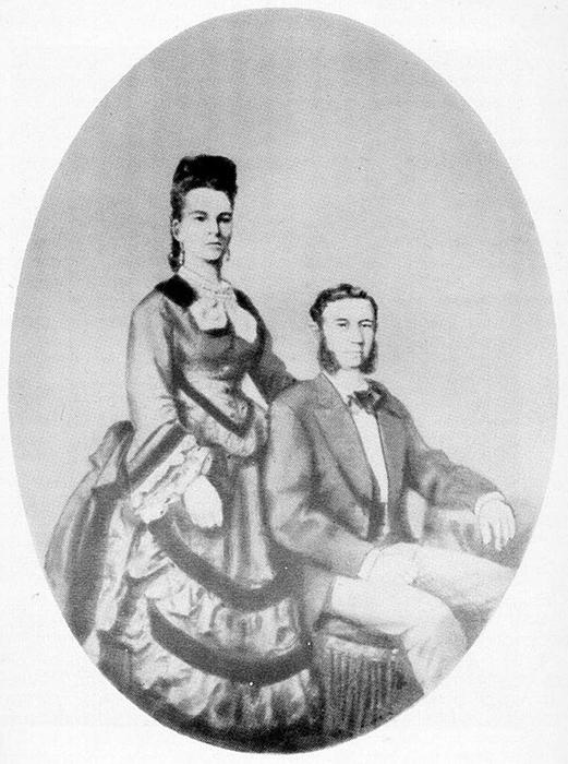Свадебный портрет Иды и Исидора Штраус.