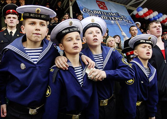 Бело-синие полоски. Фото|vokrugsveta.ru