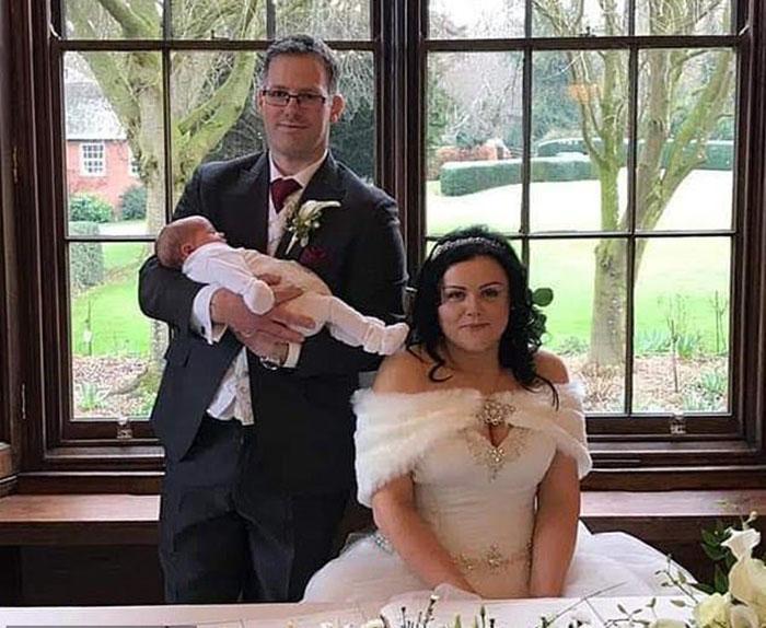 Трейси и Адам поженились через два месяца после рождения дочери.