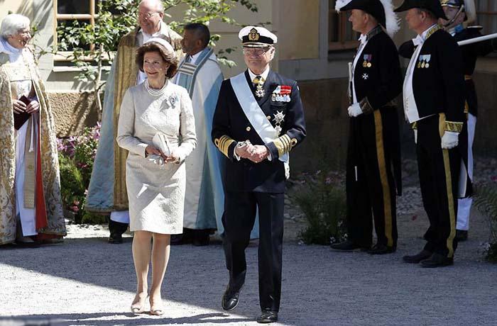 Король Карл XVI Густав и его жена королева Сильвия.