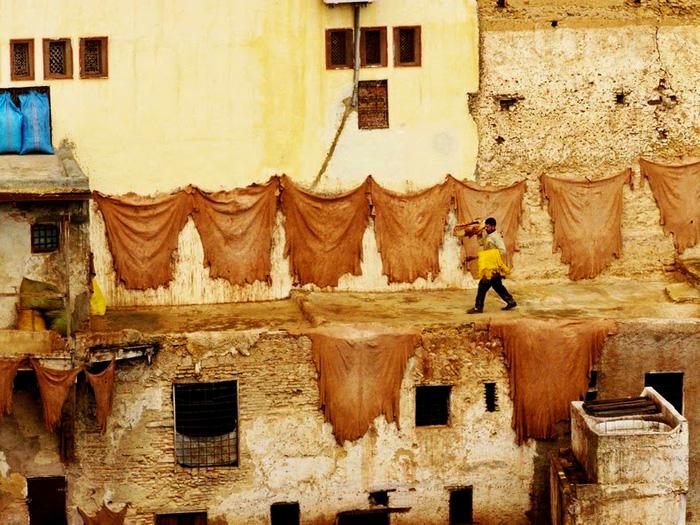 Кожевенные мастерские в Фесе привлекают сотни туристов
