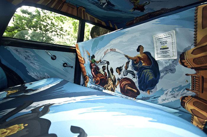 Taxi Fabric и их проект по оформлению интерьеров автомобилей такси.