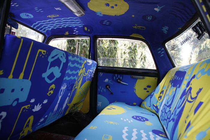 Компания Taxi Fabric пригласила местных художников и дизайнеров для сотрудничества над новым проектом.