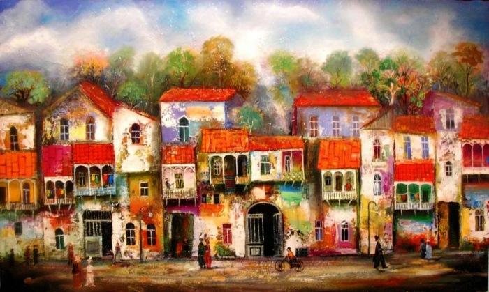 Старый Тбилиси. Картина Давида Мартиашвили.