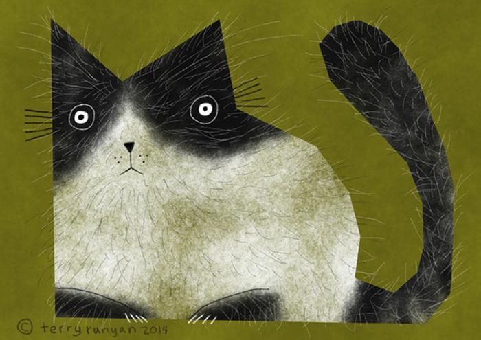 Длинношерстный кот. Автор: Terry Runyan.