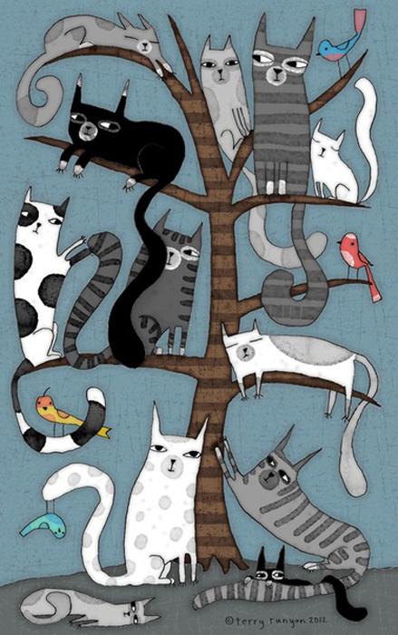 Кошачье дерево. Автор: Terry Runyan.