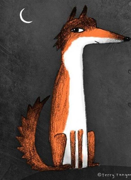 Подозрительная лиса. Автор: Terry Runyan.