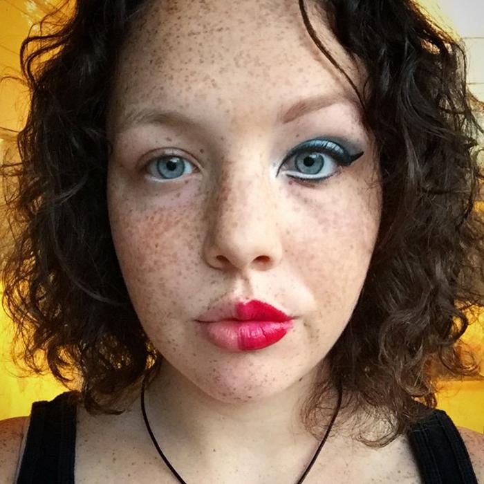 Косметика как краски, лицо как холст.