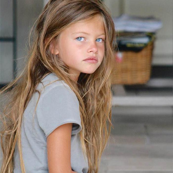 Тилан Блондо стала участвовать в профессиональных фотосессиях с 4 лет.