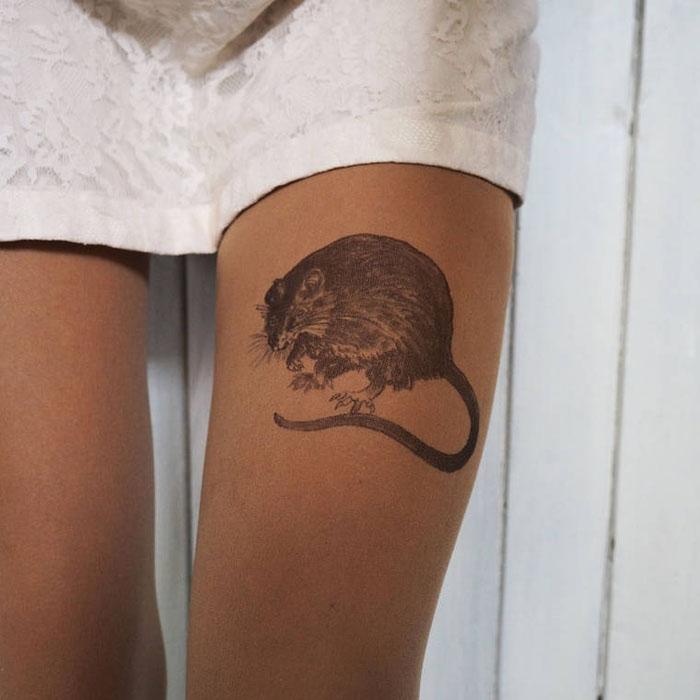тату рисунок крыса
