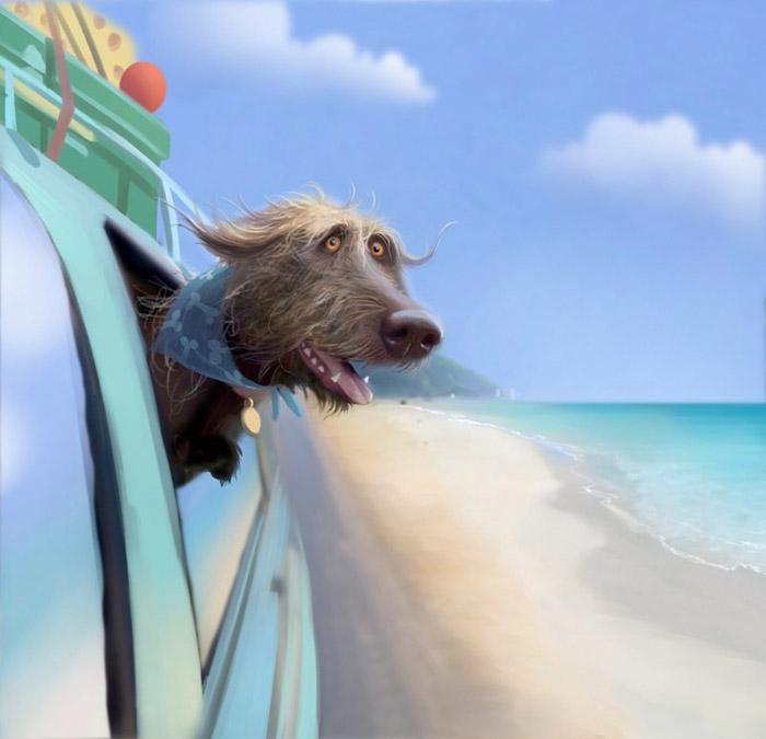 Тоби отправляется в отпуск. Автор: Stephen Hanson.