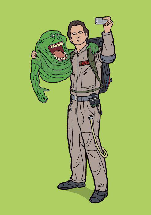 Селфи на работе охотника за привидениями. Автор: Tom Ward.