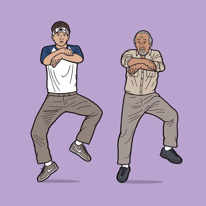 Karate Kid, танцующий Гангам стайл.   Автор: Tom Ward.