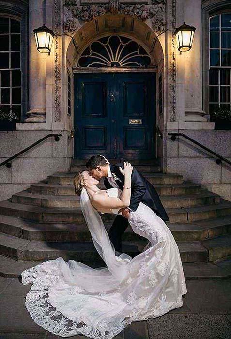 Свадебная фотография Джейка и Ханны.
