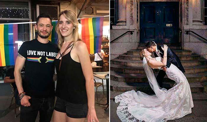 Два трансгендера сыграли свадьбу.