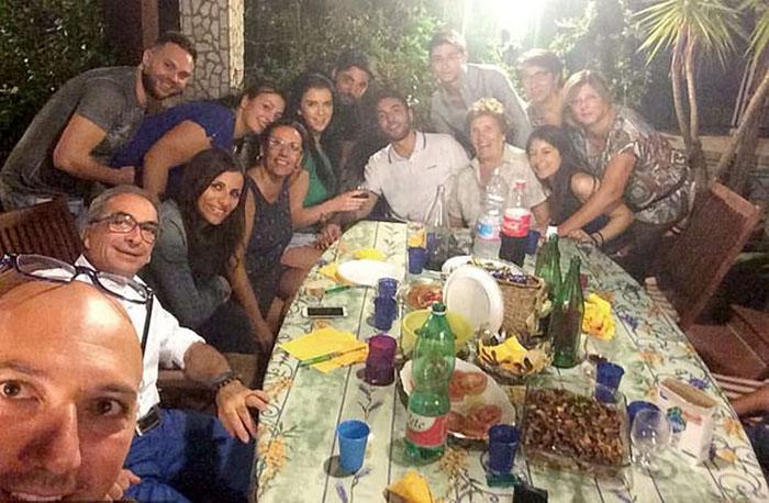 С семьей Даниеле в Неаполе.