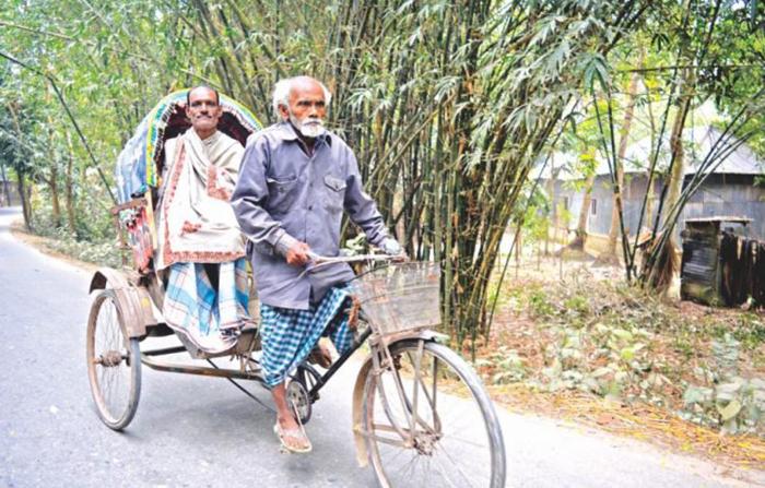 Абдул Самад зарабатывает на жизнь как водитель повозки-рикши в Бангладеше.