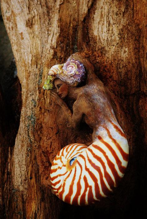Женщина-наутилус.  Автор: Debra Bernier.