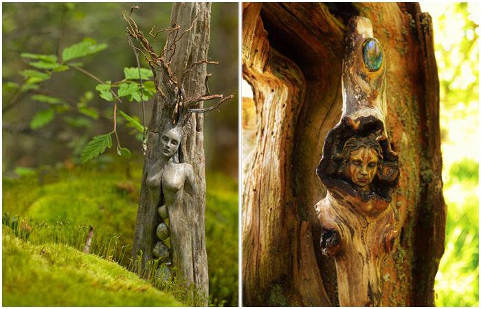Удивительные скульптуры из дерева.
