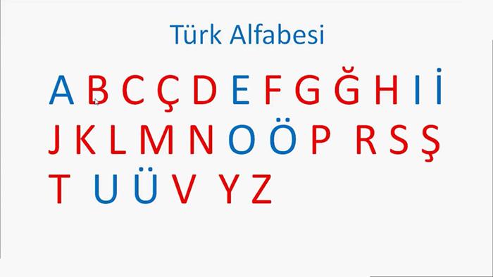 Современный турецкий алфавит.