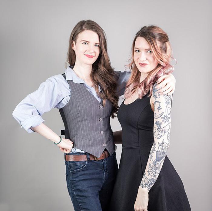 Рози (слева) - художница, Спадж работает копирайтером.
