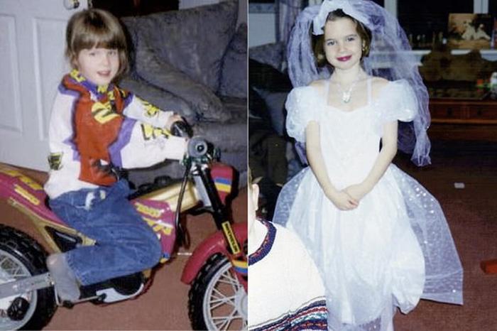 Рози (слева) с детства нравился футбол и мотоциклы, а Спадж нравились принцессы Диснея.