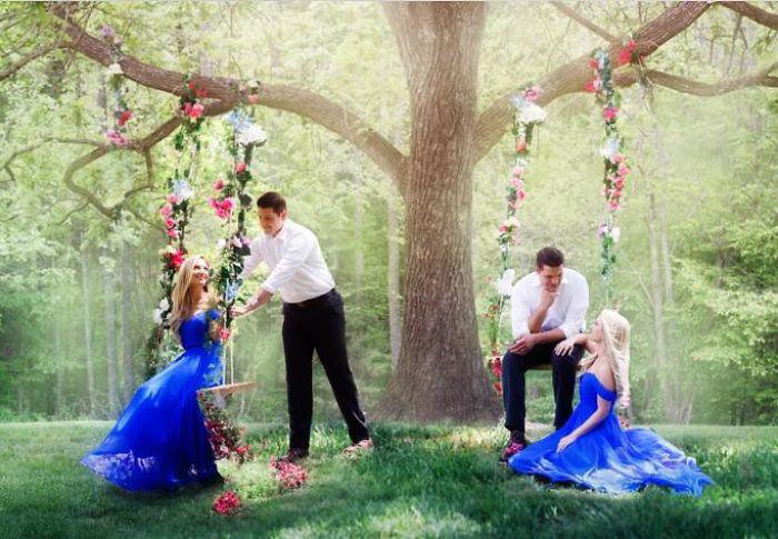 Свадебные фото близнецов.