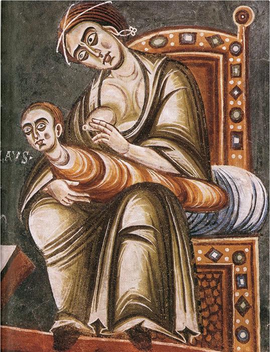 Святой Николай отказывается от материнского молока. Автор неизвестный.