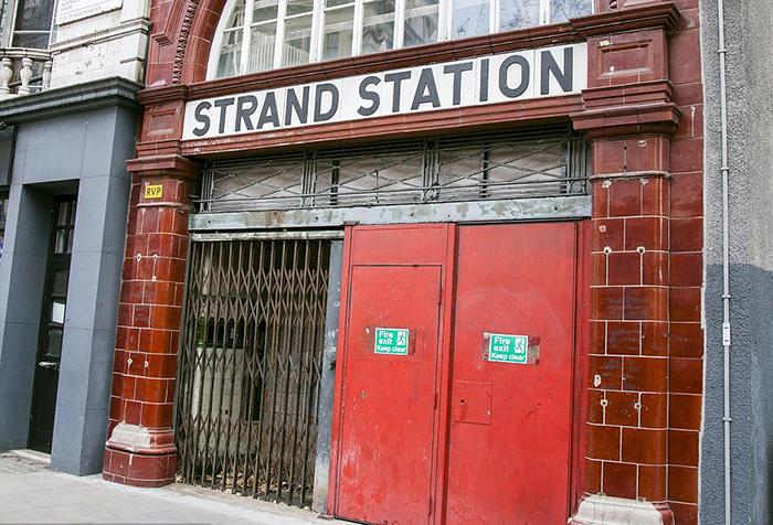 Станция Олдвич, открытая в 1907 году. Сейчас это закрытая станция.