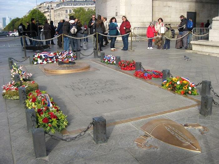 Могила Неизвестного Солдата в Париже.