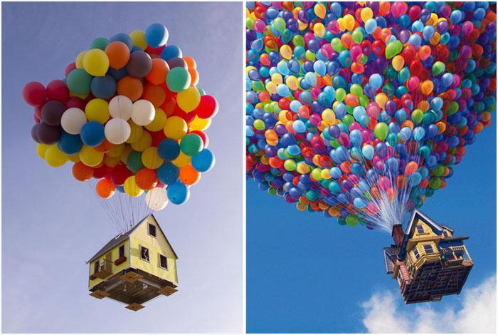 Реальная версия дома на воздушных шарах из мультфильма *Вверх*