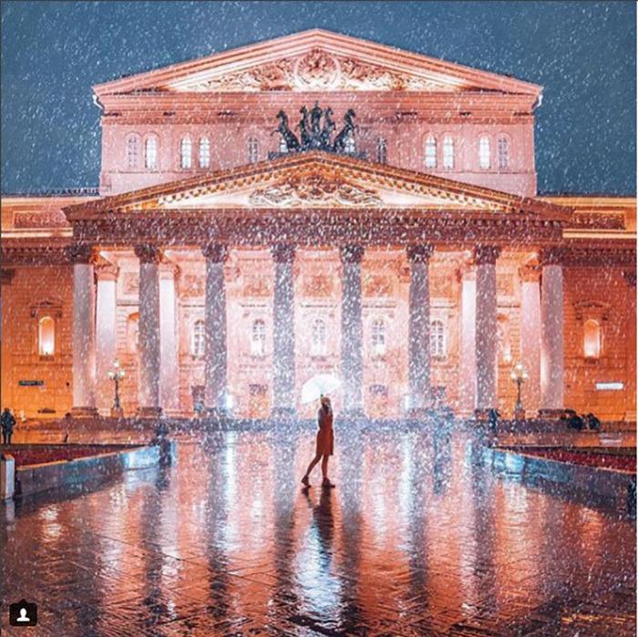 Дождь в Москве.  Instagram vi66nya.