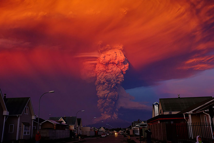 Извержение вулкана Кальбуко.