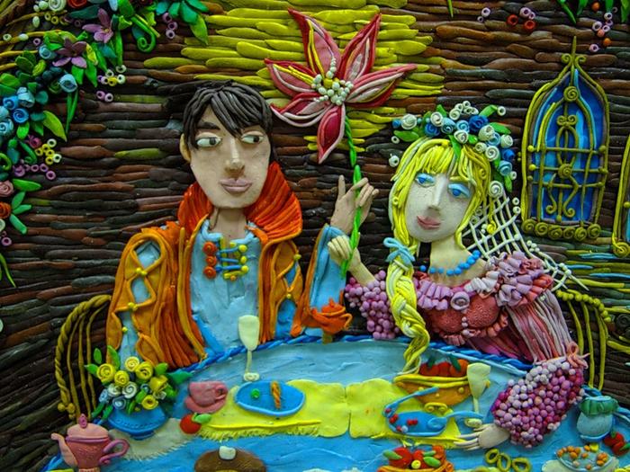 Настенька с принцем. Деталь. Автор: Анастасия Волкова.
