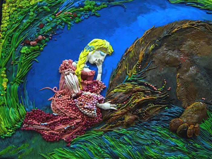 Настенька с чудовищем. Автор: Анастасия Волкова.