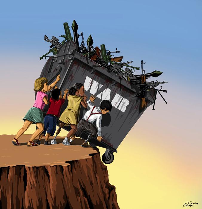 Избавиться одним махом от войны.  Автор: Gunduz Agayev.