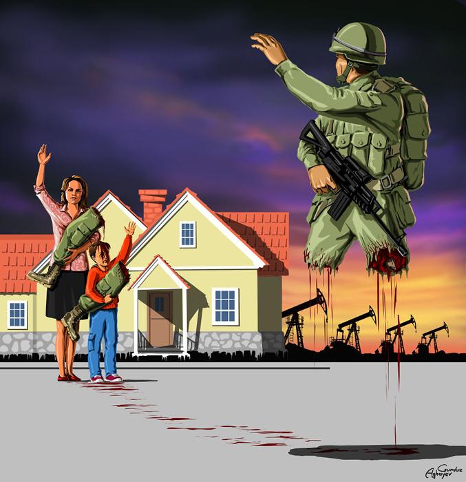 Отправляясь на войну. Автор: Gunduz Agayev.