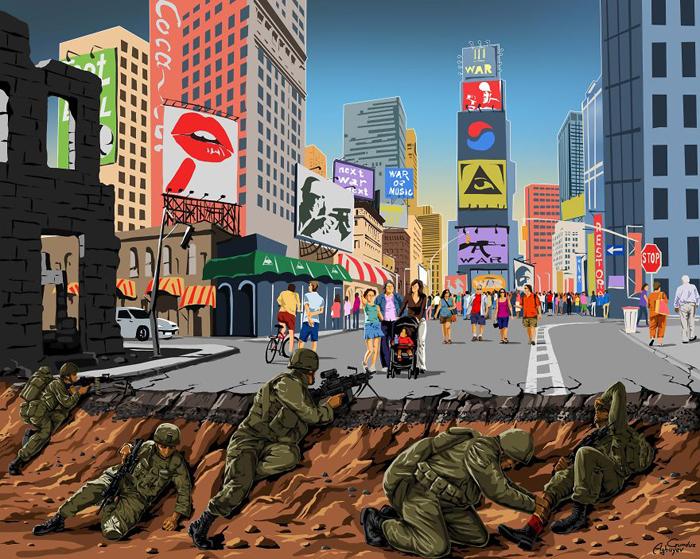 Война и мир - серия иллюстраций Гундуза Агаева.