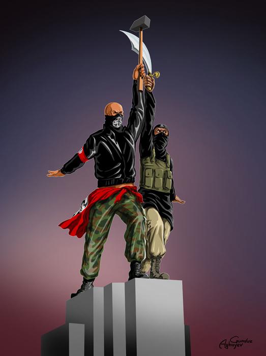 Иллюстрации Гундуза Агаева *Война и мир.*