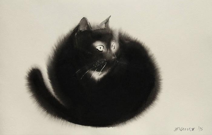 Акварельные коты Эндре Пеновака.