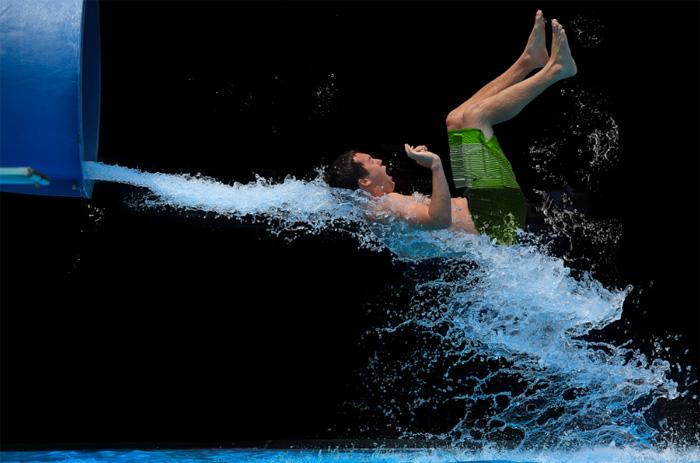 Момент прыжка в воду на фотографиях Кристи Лонг