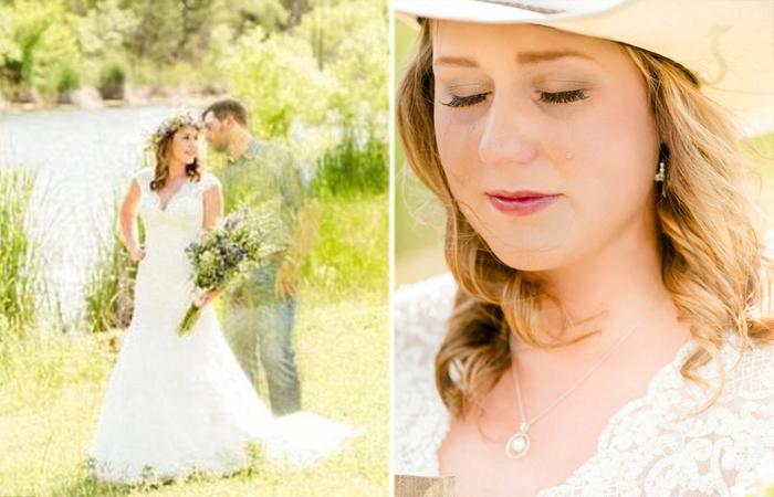 Свадебные фотографии без жениха.
