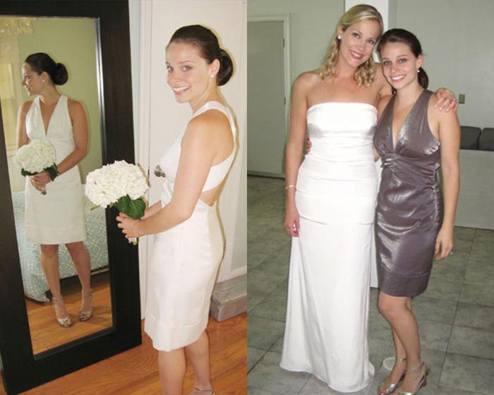 В новом цвете платье совсем не напоминает свадебное.