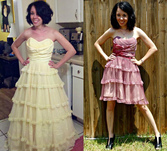 Джиллиан освежила свое свадебное платье.